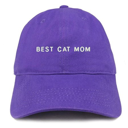 68e9b852db002 Trendy Apparel Shop Best Cat Mom Embroidered Soft Cotton Dad Hat -  Walmart.com