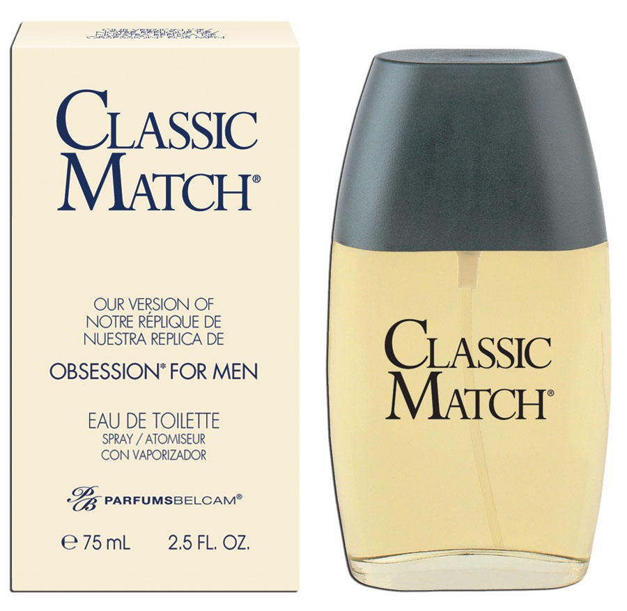 Classic Match, version of Obsession for men*, by PB ParfumsBelcam, Eau de Toilette for Men, 2.5 oz