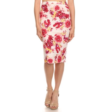 Cool Spring Style Women Floral Chiffon Long Skirt