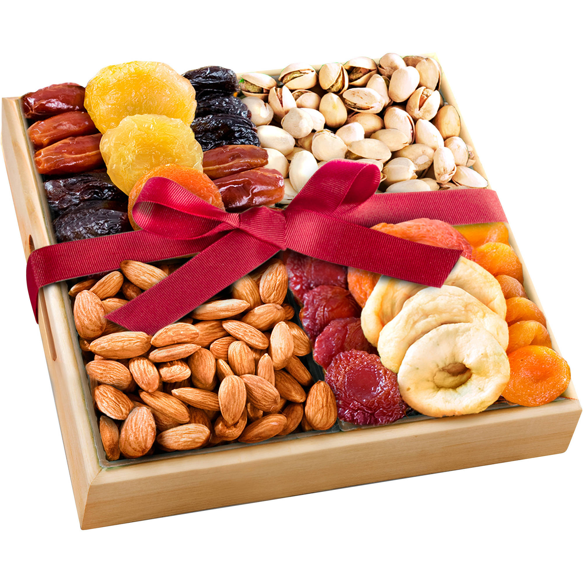 Golden State Fruit Gourmet Dried Fruit and Nut Assortment Gift Tray, 9 pc