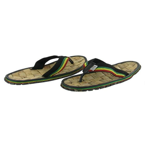 Bob Marley Men S Bamboo Flip Flop Sandals Reggae Jamaica Rasta 9 Black Com