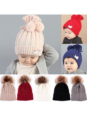 eae16ea9256 Product Image HiCoup Newborn Baby Boy Girl Kids Winter Warm Hat Pom Bobble Knit  Crochet Beanie Cap