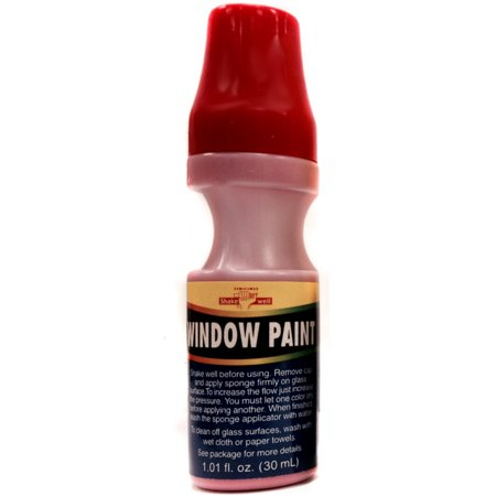 Red School Colors House Car Water Washable Window Paint