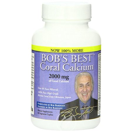 Bob Barefoot'S Bob's Best Coral Calcium 2000mg 90 Capsule, Pack of 2