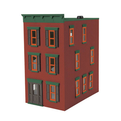O Town House, Miner Red Brick Multi-Colored