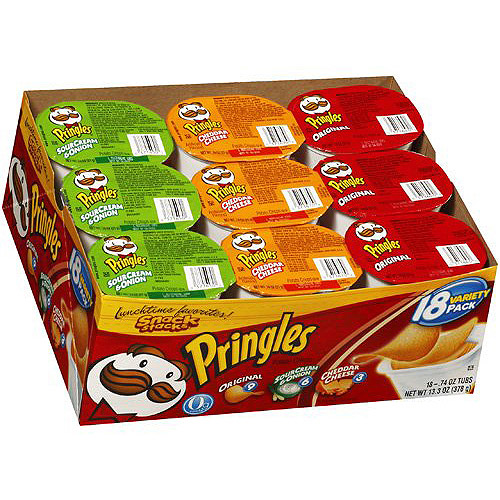 Pringles Original/Sour Cream & Onion/Cheddar Cheese Variety Pack, 18 ct