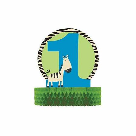 Wild At One Zebra Honeycomb Centerpiece by Creative Converting - 265686 (Zebra Centerpiece Ideas)