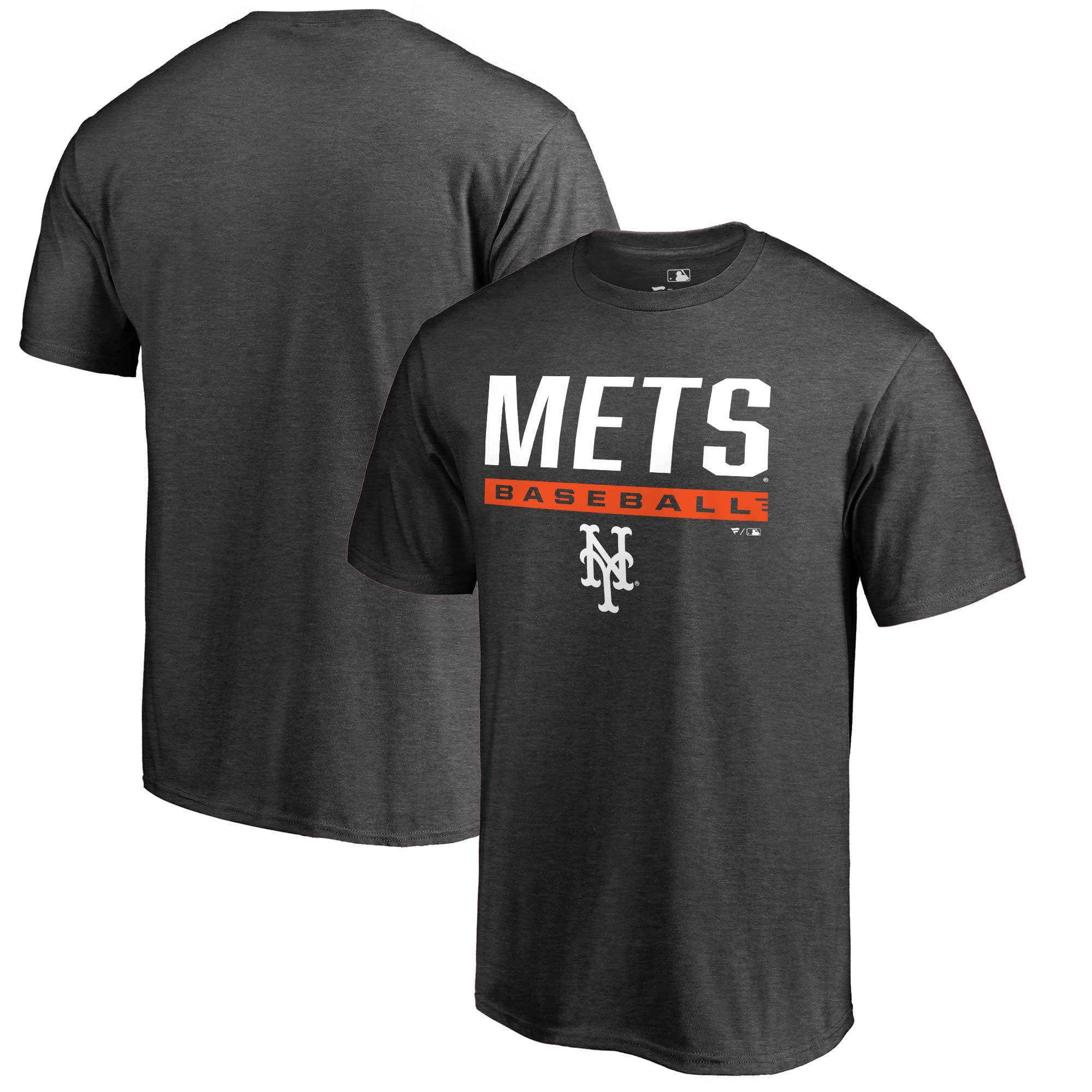 New York Mets Fanatics Branded Big & Tall Win Stripe T-Shirt - Charcoal