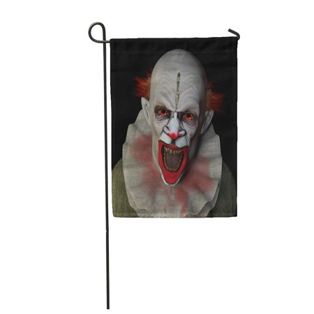 SIDONKU Monster Scary Clown Glaring at You Red Eyes Halloween Garden Flag Decorative Flag House Banner 12x18 inch](Scary Halloween Monster Pics)