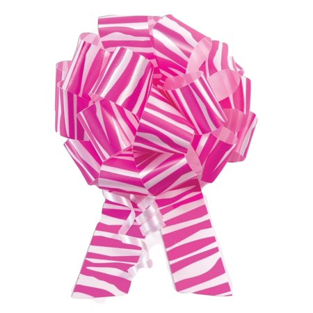 10 5 pink zebra print pull bow pew bows wedding decorations christmas gift wrap - Christmas Zebra Decorations