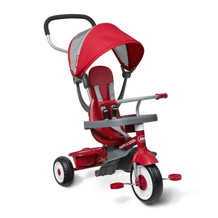 Radio Flyer, 4-in-1 Stroll 'N Trike, Grows with Child, Red (Girls Radio Flyer Tricycle)