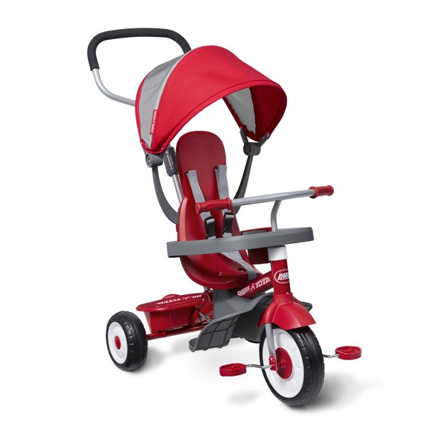 Radio Flyer, 4-in-1 Stroll 'n Trike, Grows with Child, Red