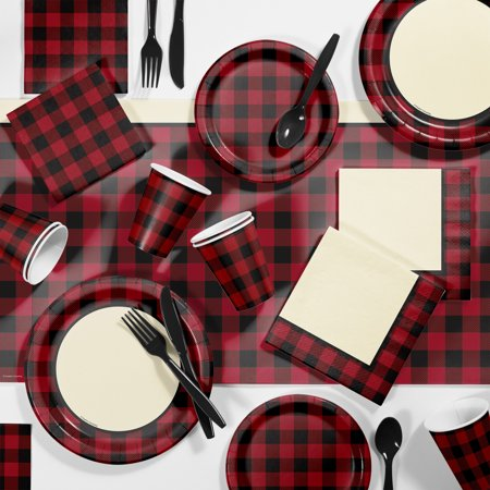 Buffalo Plaid Party Supplies Kit](Party City Buffalo)