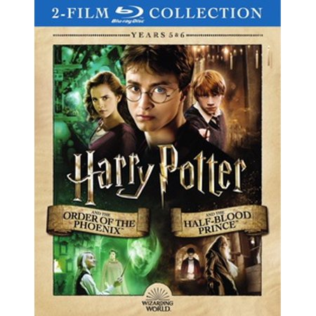 HARRY POTTER-ORDER OF PHOENIX/HALF-BLOOD PRINCE (BLU-RAY/YEARS 5&6/2 FILM) (Blu-ray) (Halloween Order Films)