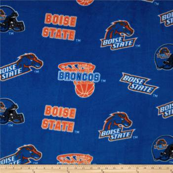 Boise Fabric Super Soft Collegiate Classic Fleece Allover Design-Sold by the Yard - Halloween Stores Boise