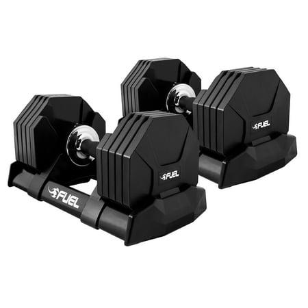 FUEL Pureformance Adjustabell Dumbbells, Quick Select 5-50 Pounds, Pair