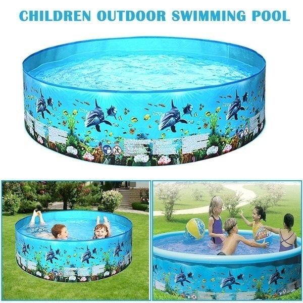 New 48/60 inches Foldable Children's swimming pool Blow Up ...