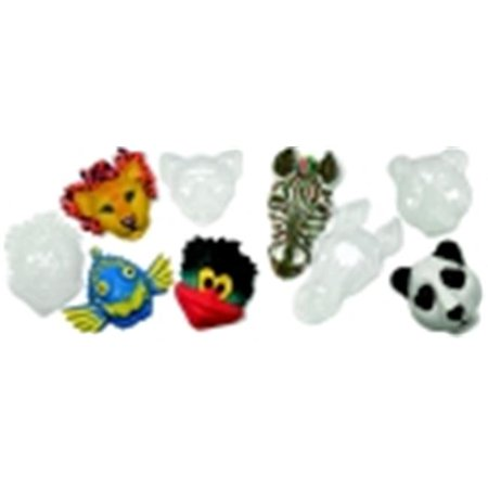 Roylco Plastic Make-A-Mask Multi-Cultural Animal Mask, Clear, Set - 5