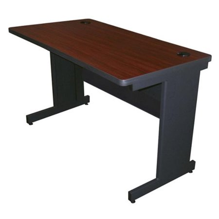 48W x 24D Pronto School Training Table with Modesty Panel Back - Dark Neutral-Steel Frame