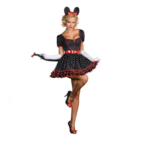 MINNIE MOUSE mickey disney womens sexy adult halloween costume  - Minnie Mouse Womens Costume