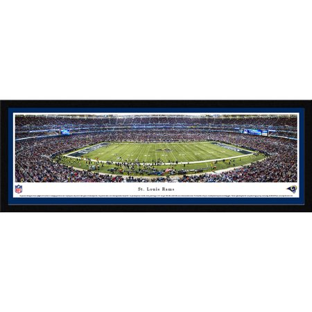 St. Louis Rams 50 Yard Line at Edward Jones Dome Blakeway Panoramas NFL Print with Select Frame and Single Mat by