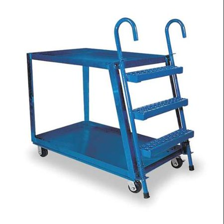 Value Brand Stock Picking Ladder Cart, Blue - Ladder Cart