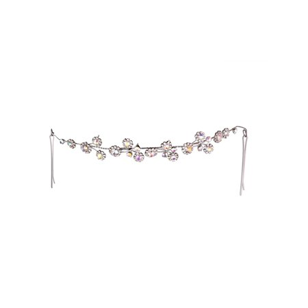 Lux Accessories Silver Tone Flower Crystals Bridal Wedding Look Hair Pins