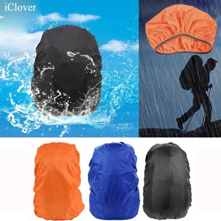 IClover Rain Cover 30L-40L Waterproof Backpack Bag Cover for Hiking /Camping/Traveling/Cycling Outdoor Activities Adjustable Elastic Rucksack Waterproof  Cover (Black)