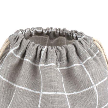 De Plein air Voyage Pochette résistante à la poussière avec Cordon de Serrage en Lin et Coton Gris - image 2 de 5