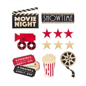 Movie Night Cut-Outs Party Supplies Decoration Special Events 12 Count](Movie Party)