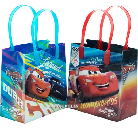 Lightning Mcqueen Birthday Party Decorations (Disney Car Mcqueen Lightning legend 12 Small  Party Favors Goodie  Gift Bags)