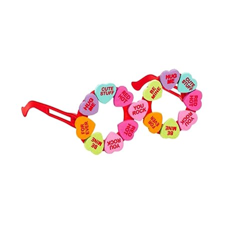 Holiday Party Accessories Amscan Valentines Heart Candy Round Glasses - Valentine Accessories
