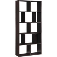 2 Set Of Mainstays Home 12-Shelf Bookcase (Brown / White)