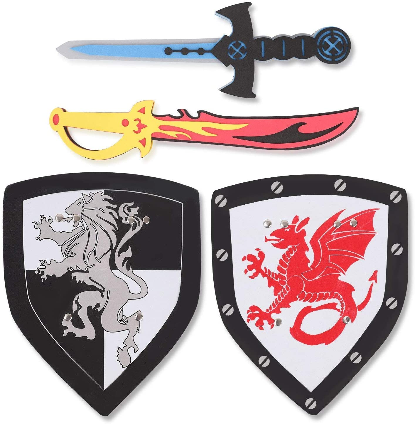 KNIGHT MEDIEVAL PARTY felt swordsparty suppliesset of 10 swordsfun for play
