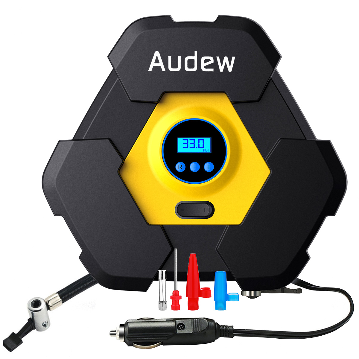 Audew Portable Air Compressor Pump DC12V Auto Digital Tire Inflator, 12V 150 PSI Tire Pump for Car, Truck, Bicycle, and Other Inflatables