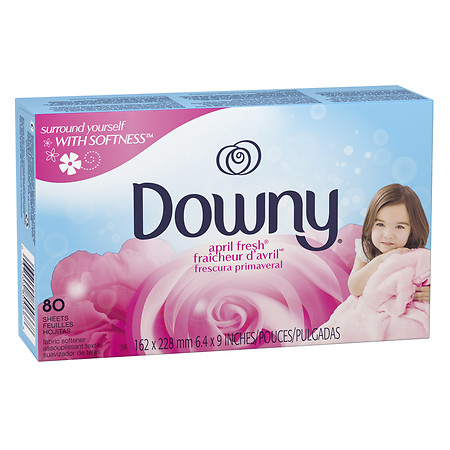 Downy Fabric Softener Sheets April Fresh 80.0 ea(pack of 2)