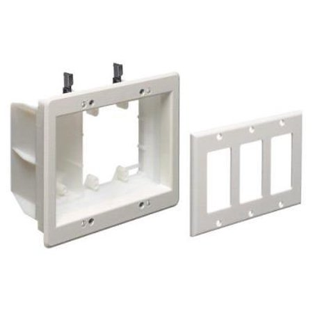 Brilliant Arlington Tvbu507 1 Tv Box Recessed Outlet Wall Plate Kit 3 Gang Wiring Database Gramgelartorg