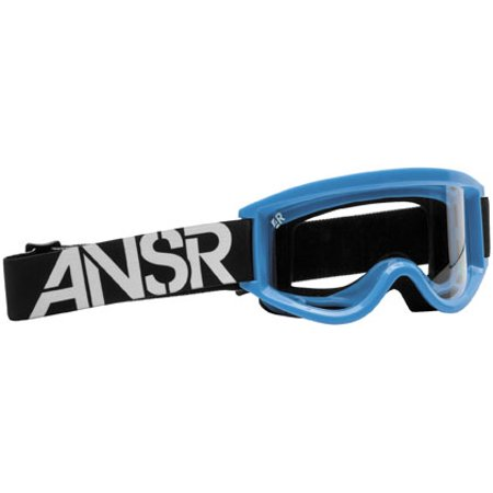 Answer Racing Goggles (ANSWER RIDING APPAREL Logo Goggles Blue Cyan/Clear Lens   18162)