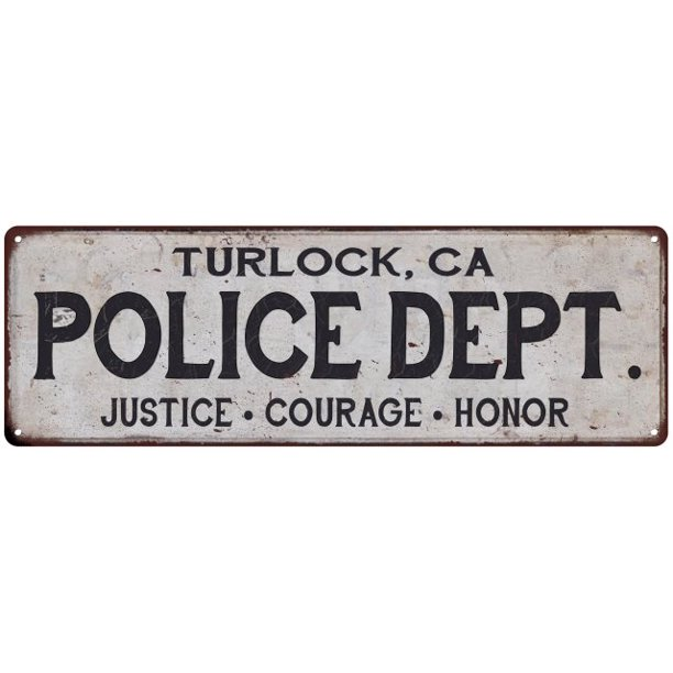 Turlock Ca Police Dept Home Decor Metal Sign Gift 6x18 206180012467 Walmart Com Walmart Com