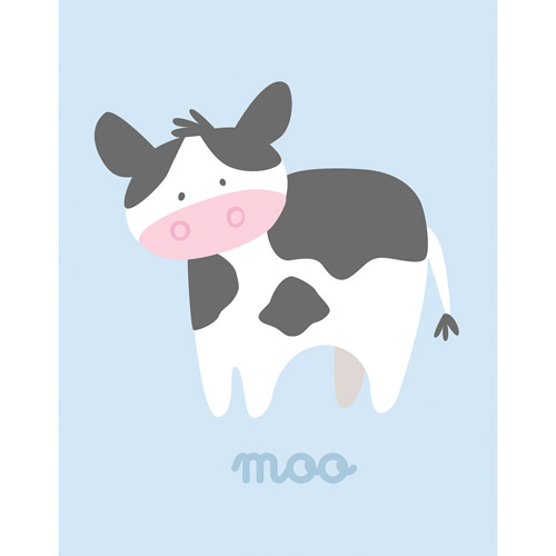 "Cow Wall Art barn babies moo"" cow wall art - walmart"
