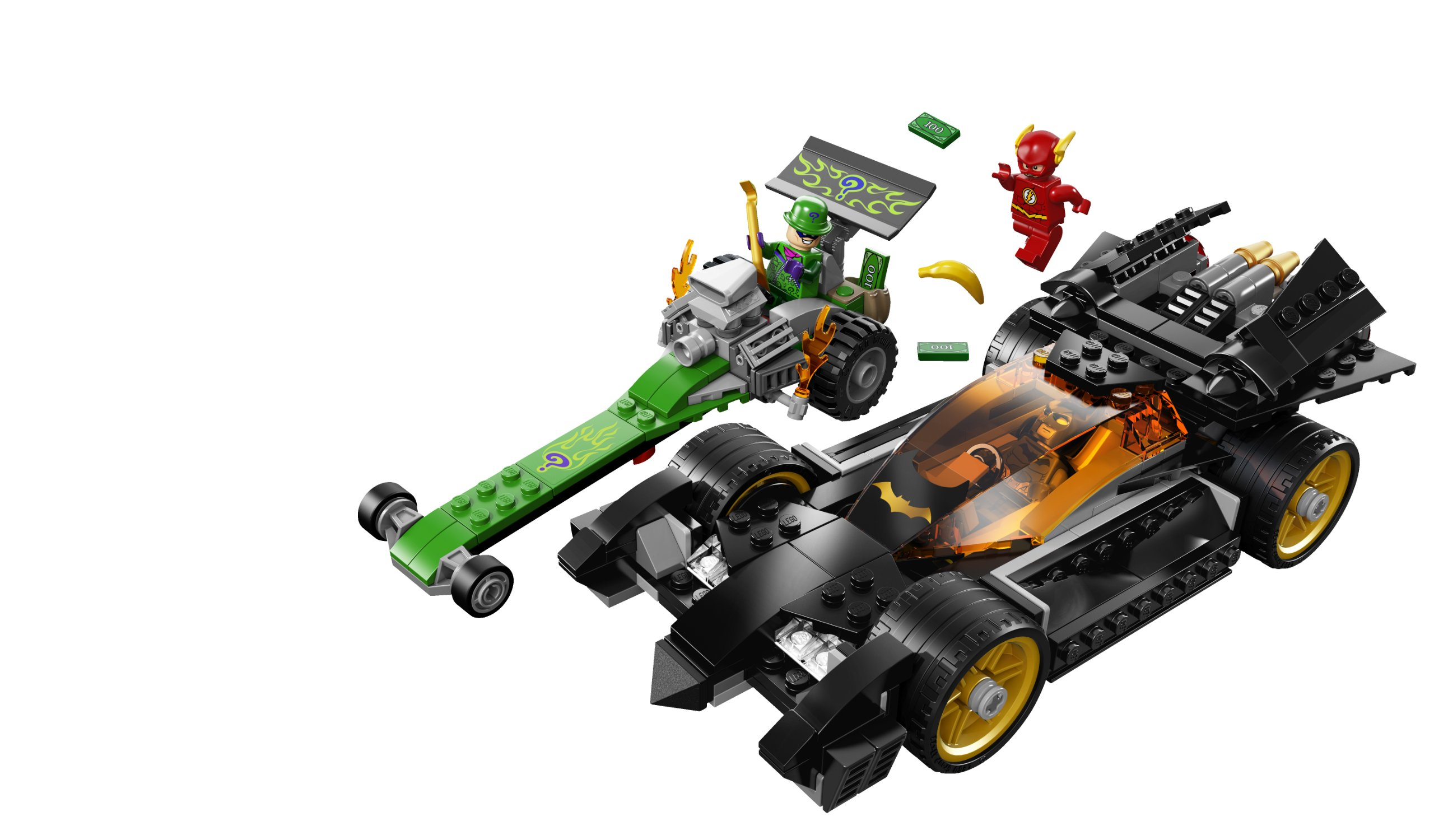 Lego  76012 Super Heroes DC The Batmobile Batman Minifigure Manual 2 Lot ONLY