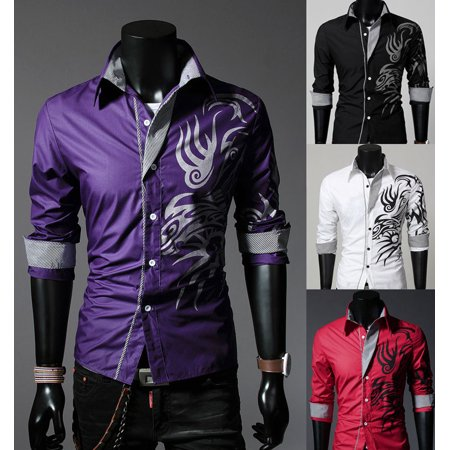 Formal Dress Shirt (Luxury Hot Men Slim Fit Shirts Long Sleeve Dress Shirt Casual T-Shirt)