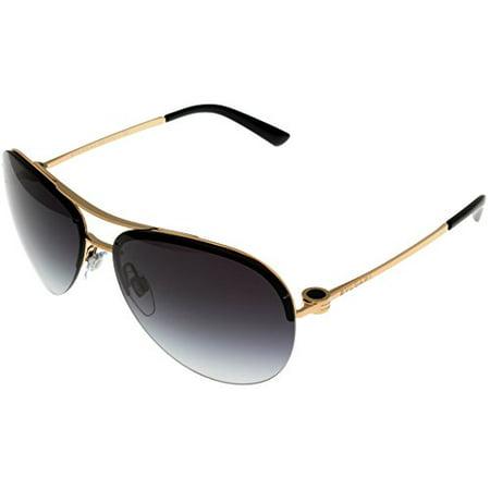 Bvlgari Sunglasses Womens Pink Gold Black Aviator BV6081 376/8G Size: Lens/ Bridge/ Temple: 61_14_135