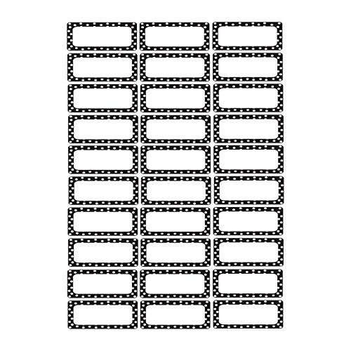 Ashley Dry Erase B w Dots Nameplate Magnets 1 Pack Dotted Design Rectangular Shape Die-cut, Write-on,... by Ashley Productions