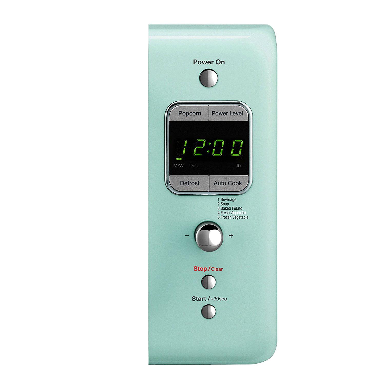 Daewoo KOR-7LREM Retro Countertop Microwave Oven 0.7 Cu. Ft., 700W
