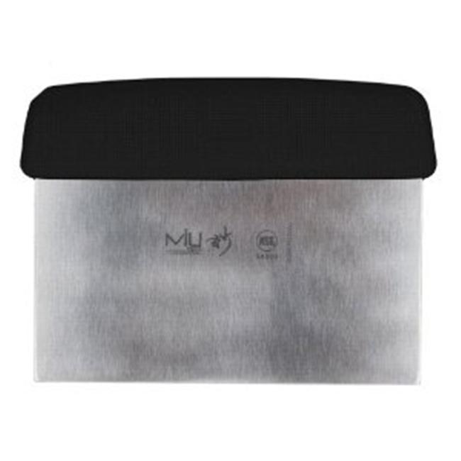 MIU France 94009 Dough Scraper - 6-Inch - High Carbon Stainless-Steel Stamped