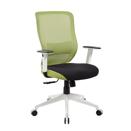Mid-back Ergonomic Mesh Office Chair With Adjustable Lumbar Support and Armrests
