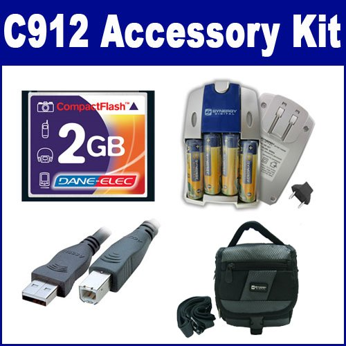 HP PhotoSmart C912 Digital Camera Accessory Kit includes:...