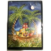 Palm Tree Hammock filled Presents - Box of 18 Christmas Cards by LPG Greetings