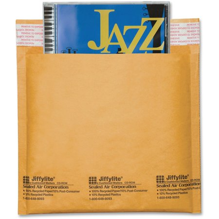 - Sealed Air, SEL44169, Jiffylite CD/DVD Mailers, 25 / Carton, Satin Gold
